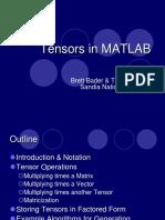 Kolda - Tensors in MATLAB
