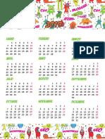 Calendario 2019 Monstruos