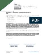 Carta de Presentacion - CIA Minera Raura Sa
