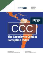 Venezuela de Nuevo en El Foso Según El Índice de Capacidad Para Combatir La Corrupción CCC