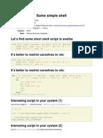 Simple Scripting