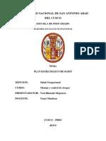 Informe de Plan Estrategico