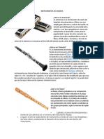 Instrumentos de Madera