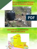 Presentacion Proyecto Riego a goteo a baja presion