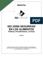 ISO 22000 - Politicas Y Procedimientos