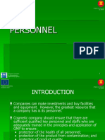Personnel - cGMP Training