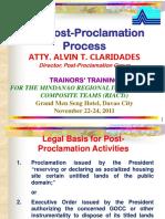 Post-Proclamation Presentation RIACT Training Davao City
