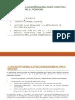 Exploración Minera, Compañías Mineras Junior y Aspectos (1)