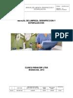 Manual de Limpieza, Desinfeccion y Esterilizacion Clinica Renacer