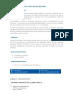 Estadística Aplicada a Las Ciencias Sociales (Curso)