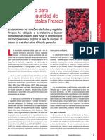 Ozono Para Mejorar La Seguridad de Frutas y Vegetales
