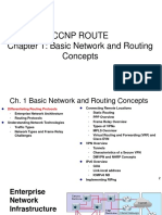 ROUTE 1 BasicNetworkRoutingConcepts