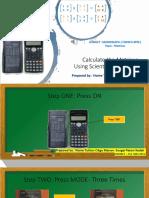 Calculate the Matric Using Scientific Calculator