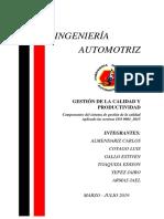 COMPONENTES DEL SISTEMA DE GESTION DE CALIDAD ISO 9001 2015 .docx