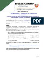 ACTA DE DESIERTO SIE N° 001