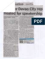 Business World, July 4, 2019, Another Davao City rep floated for speakership.pdf