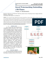A Survey on Filtered Watermarking Embedding & Extraction in Bit Planes