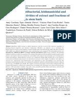 Antioxidant, antibacterial, leishmanicidal and trypanocidal activities of extract and fractions of Manilkara rufula stem bark