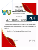 Certirficate of OJT
