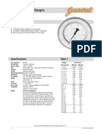 Pressure Gauge Specification