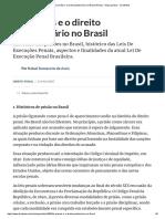 As Prisões e o Direito Penitenciário No Brasil (Penal) - Artigo Jurídico - DireitoNet
