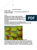 Resepi Kek Butter Warna Warni