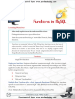 CBSE Class 11 Informatics Practices Functions in MySQL