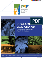 PSF Proponent Handbook