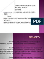 Biosafety and ELSI