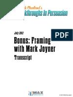 Framing With Mark Joyner Transcript