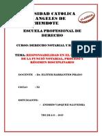 La Responsabilidad en El Ejercicio de La Función Notarial