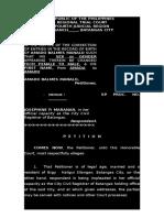 Petition 4 Correction-gender, First Name-Amado b. Manalo