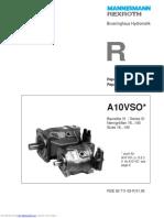Mannesmann Rexroth A10VSO Series Repair Instructions