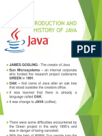 Presentation 1 Introduction and History of Java1