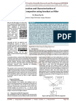 Preparation and Characterization of Rubber Composites using Sawdust as Filler