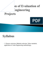 CHEAPTER 9 Selection of Evaluation of Value Engineering Projects