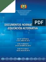 NORMATIVA DE EDUACIÓN ALTERNATIVA EN BOLIVIA
