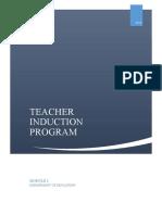 Teacher Induction Program Module 1 V1.0