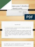 Aguas limpias para Colombia al menor costo.pptx