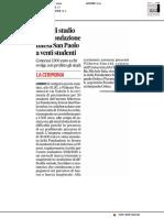 Borsa di studio Intesa Sanpaolo a venti studenti - Il Corriere Adriatico del 3 luglio 2019