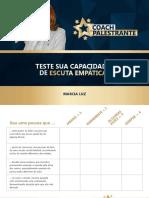 TESTE CAPACIDADE ESCUTA EMPÁTICA