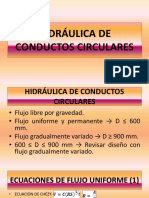 4. Hidráulica de Conductos Circulares