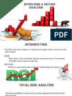 Securities-risk & Return Analysis