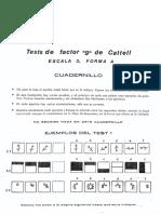 Cuadernillo Test de Factor G de Cattell (Nivel 3) (Forma a) (Form. Alt.)