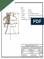 33kV Pin Insulator 580 CD Double Part