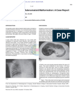 Malik R, Pandya v K, Agrawal G, Jain M. Congenital Cystic Adenomatoid Malformation a Case Report.