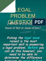 Legal Problem Questions Workshop One