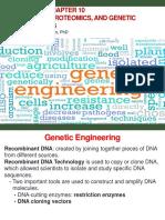 Bi 341 Chapter 10 Genomics, Proteomics, And Genetic Engineering
