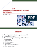 Bi 341 Chapter 8 the Molecular Genetics of Gene Expression