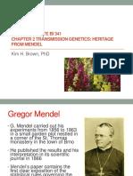 Bi 341 Chapter 2 Transmission Genetics.post